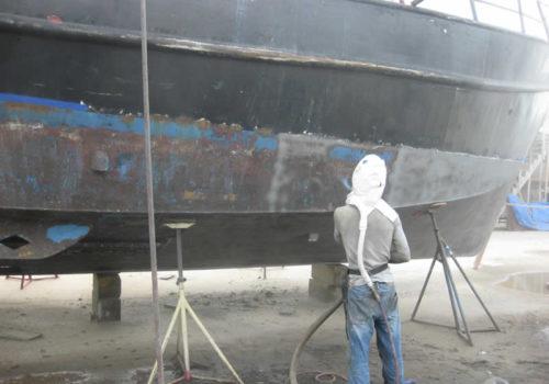 Large Vessel Sandblasting And Painting