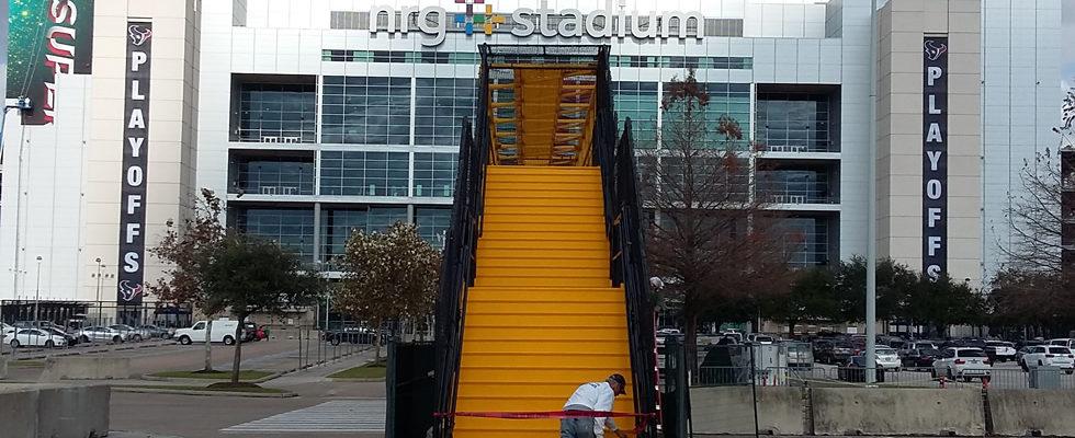 Walkover Bridge At NRG Stadium