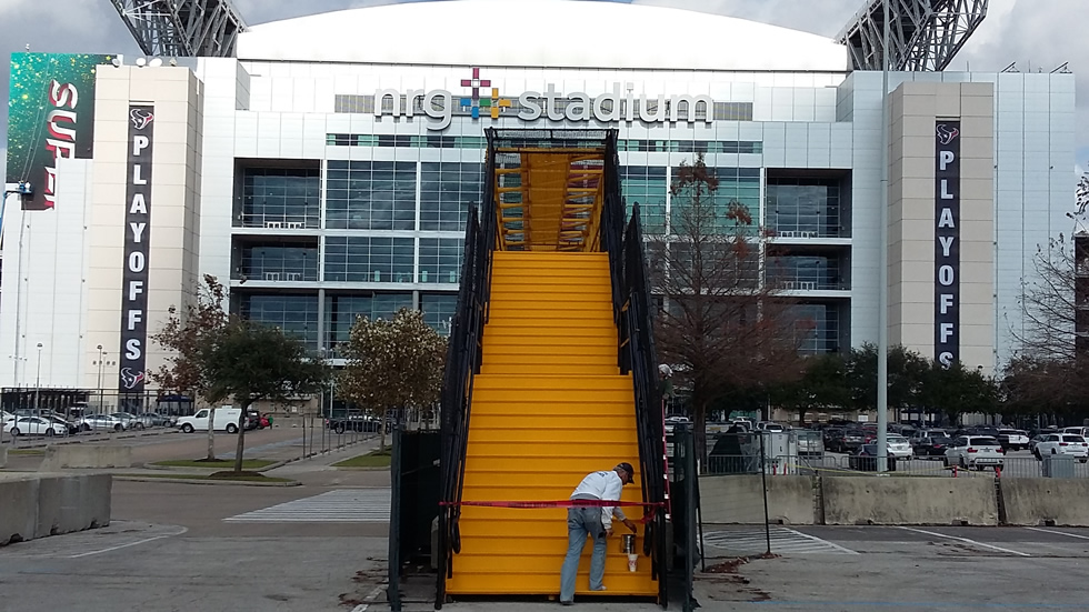 Walkover Bridge At NRG Stadium