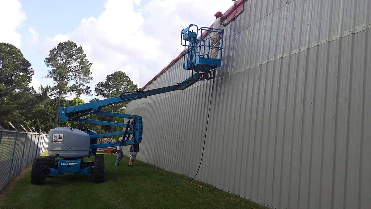 Commercial Building Washing Priming And Painting